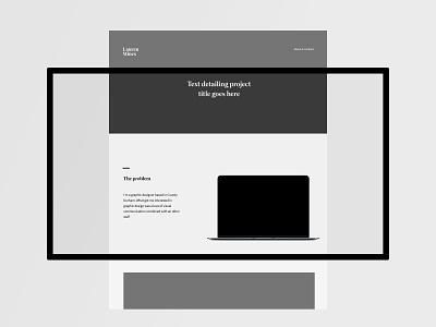Website Wireframe minimal simple html site design black and white monochrome website design web designer webdesign webpage web ux design ui deisgn website concept wireframe ux ui website graphic design design