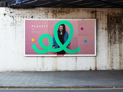 Playpit Billboard logo designer designer graphicdesigner logo designs logo design vibrant bright playful color billboard design billboard advertising advert branding colorful colourful colour graphic design design