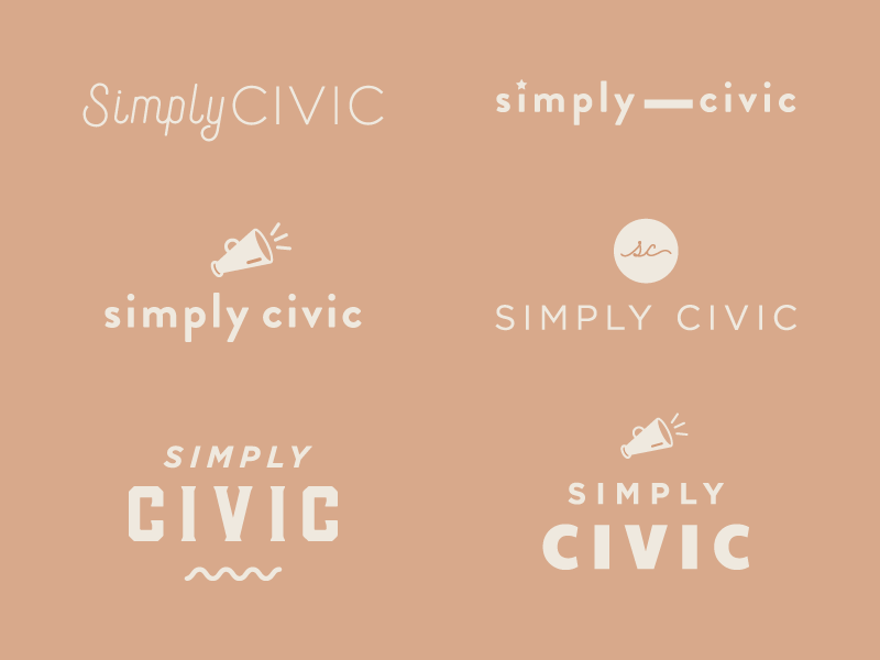 More Logo Sketches for Simply Civic branding logo