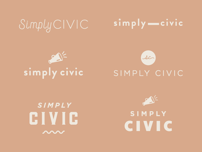 More Logo Sketches for Simply Civic branding logo