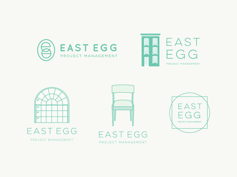 East Egg Logo Sketches branding logo design
