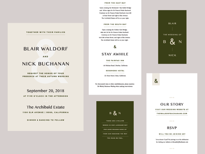 Autumn Wedding Suite Sketch print design event collateral