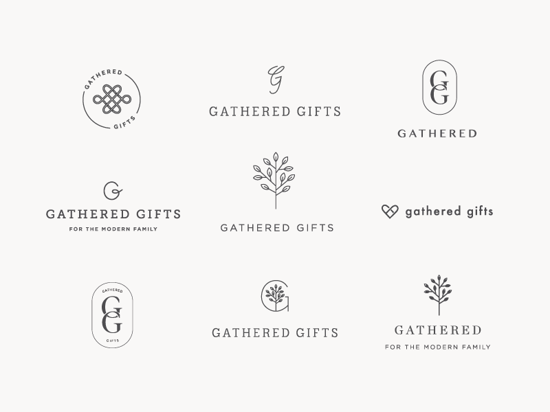 Gathered Logo Exploration branding logo design