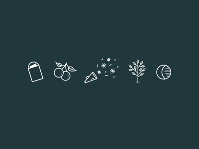 Icons for Gathered Gifts branding iconography icon