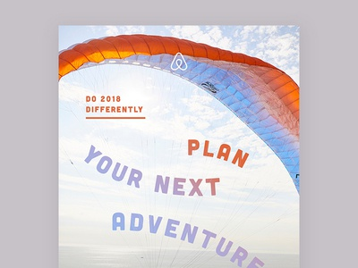 Plan Your Next Adventure typography poster type design