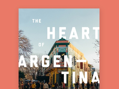 Heart of Argentina type design typography