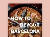 Devouring Barcelona typography type design
