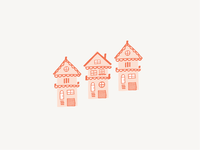 Little Houses hand-drawn illustration