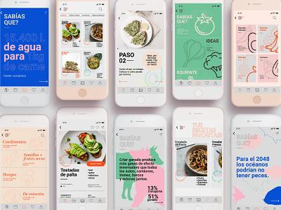 Basate en Plantas - Plant based app design visual design food app design food app ui vegan food application app design vegan veganism branding ui design ux design uxui uxdesign uidesign ui  ux ux  ui ux uiux ui app ui