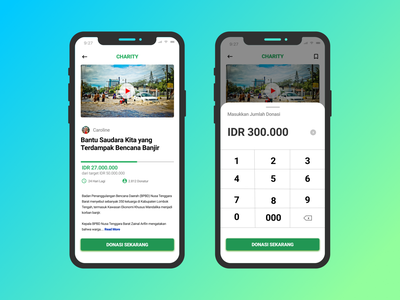 Charity App Page UI Design design app ux ui