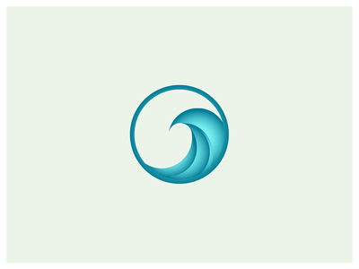 Wave blue gradient wave icon illustration