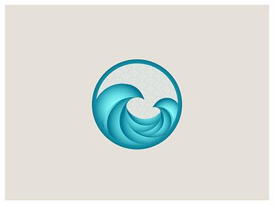 Double Wave Japan gradient wave japan illustration
