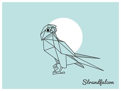Geometric Falcon logo falcon vector illustration