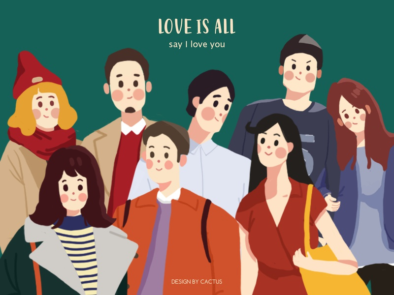 love is all lovers paint drawing typography illustration design