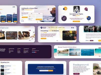 Colvolt Travel HiFi Web Concept process exploring fun play cards creative practice website web mockup mock travel concept design modular ux ui