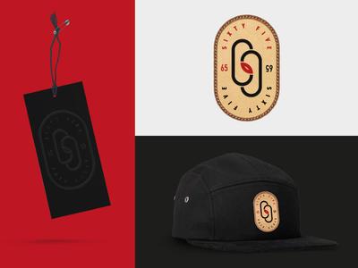 65 Street Wear clothing fashion streetwear concept badge design 5 panel cap mockup