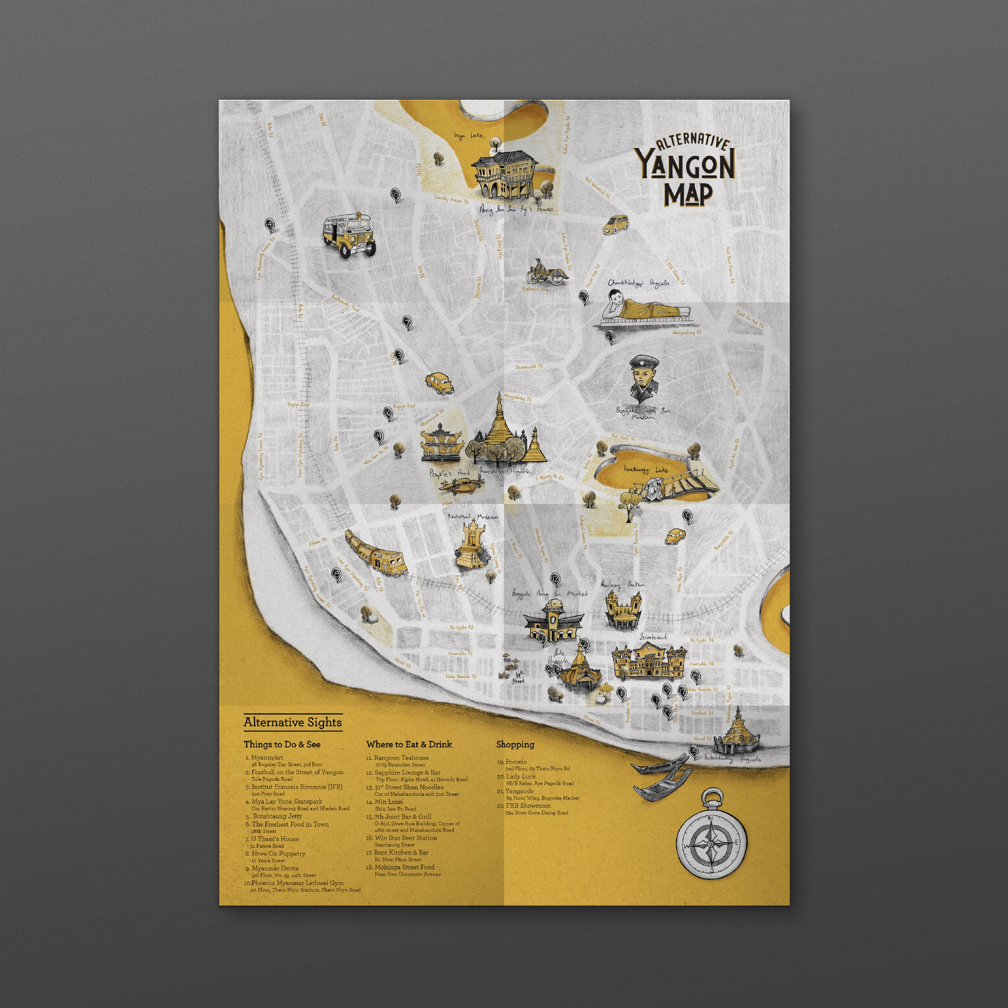 Map mockup  illustrations