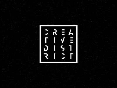 Creative District logo typography branding