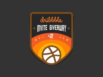 2 Dribbble Invites Giveaway invites giveaway draft invite invitations dribbble patch badge