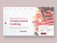 Architectural Cooking Webpage uxdesign ui design product design ux  ui uiux userinterface ui uidesign ux user interface design user experience design