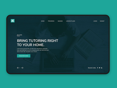 Learn Management System Website Design