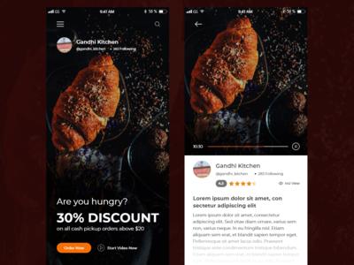 Restaurants App Screen