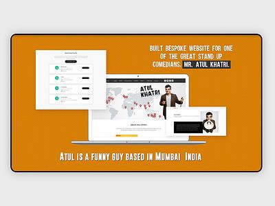 Built bespoke website stand up comedians ui vector logo graphic design creative appdesign uxdesign uidesign webdesign