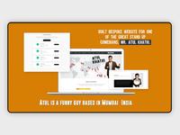Built bespoke website stand up comedians