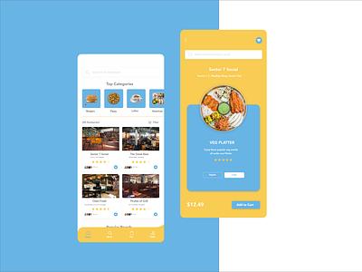 Online Food Ordering App vector android app customwebapp designinspiration design creative appdesign webdesign uxdesign uidesign