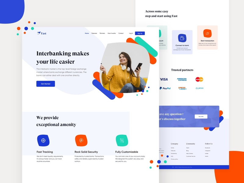 Fast || Interbanking landing page banking bank digital business digital agency ario business agency business 2020 trend 2020 templates colorful clean ui web templates web typography landing page ui design