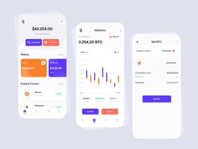 Crypto App Concept 2021 design 2021 trend 2021 crypto currency crypto exchange cryptocurrency crypto wallet crypto banking business colorful typography clean ui ui design