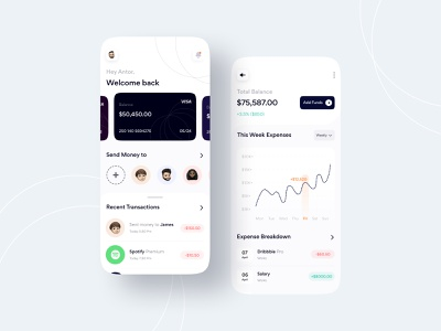 Fintech Mobile App Exploration figma card bank app bankingapp dashboad financial app finances finance app banking app fintech finance 2021 trend 2021 banking business colorful typography clean ui ui design