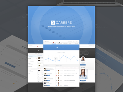 Careers - Showcase design ux ui website layout minimal simple career careers hiring hire job