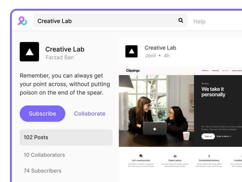 🗂 Collect collection pin cards board grid ux ui education research collaborative students saas app product design