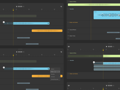 Sonatic voices timeline 🗣️ voiceover product tool sonatic voices design data visualisation ux ui app saas product design