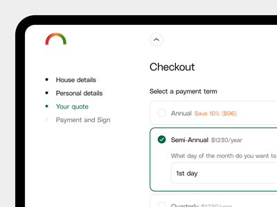 Payment 💳 product insurance quote checkout payment tool branding ux app saas product design ui
