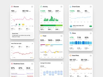 Vital health app tool software illustration design ui ux data visualisation saas app product design