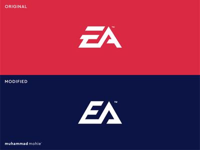 EA logo rebranding branding modern tech logo lettermark gaming logo gaming electronics art monogram redesign logo design logo design