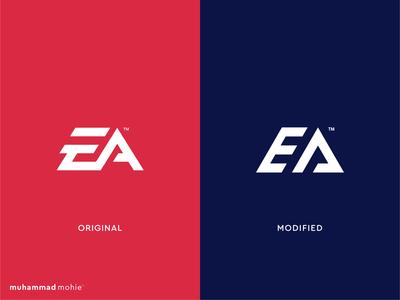 EA logo rebranding monogram lettermark logo logo design modern redesign rebranding gaming logo gaming electronics art tech logo design