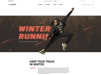 N-Sport home page running hanoi vietnam designer website landing page sports fashion creative saigon ecommerce