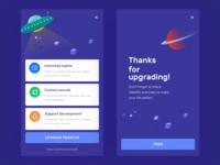 Upgrade page