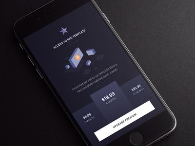 Upgrade - Video app pricing iphone7 ios illustration sound text media subscription premium slideshow