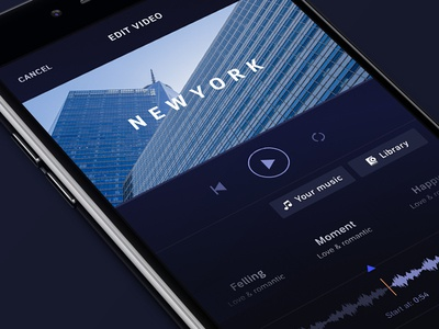 Figmator app - Choose music