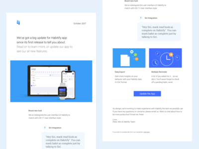 Habitify Newsletter documentation illustration email template todo habit iphone email design newsletter