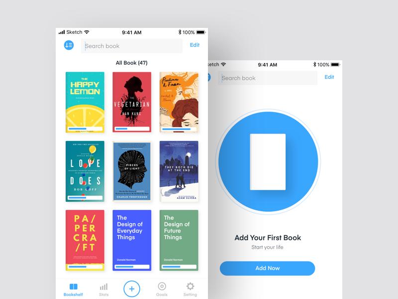 Book Tracking App - Bookshelf