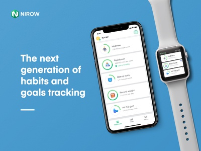 Nirow productivity product progress goal habit apple watch iphonex app