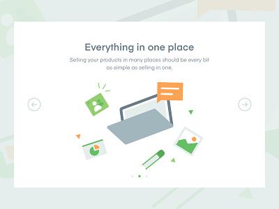 Web Onboarding web ui website onboarding book shop email computer flat illustration illustration