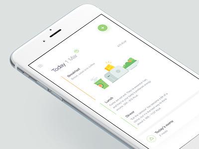 Activity Timeline - Health app healthy app tracking healthy recipes food life breakfast illustration icon activity