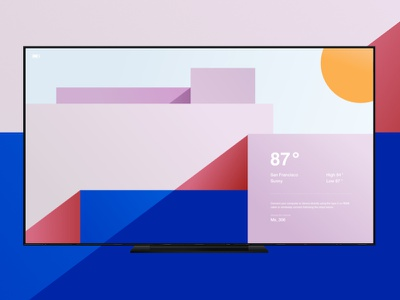 TV Idle screen | Background ui color full touchscreen welcome spash idle screen tv background