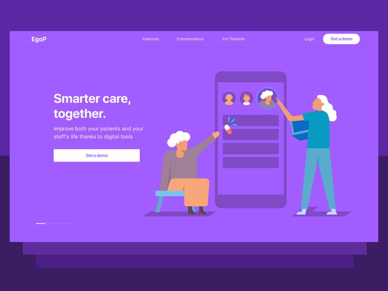 Health care - Landing page drugs nurse patient health app health care landing page website illustration design ui